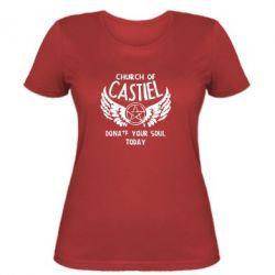 Женская футболка Church of Castel - FatLine