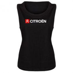 Женская майка Citroën Logo - FatLine