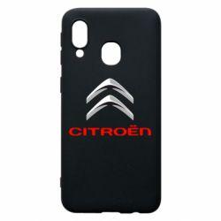 Чехол для Samsung A40 Citroen лого
