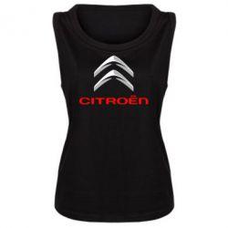 Женская майка Citroen лого - FatLine