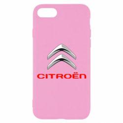 Чехол для iPhone 8 Citroen лого