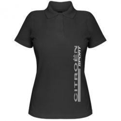 Женская футболка поло Citroen Спорт - FatLine