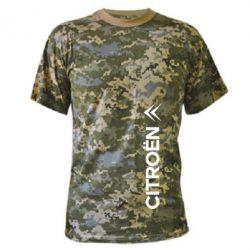 Камуфляжная футболка Citroen Vert
