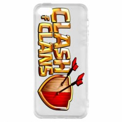 Чохол для iphone 5/5S/SE Clash of Clans logo