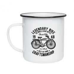 Кружка емальована Classic Bicycle