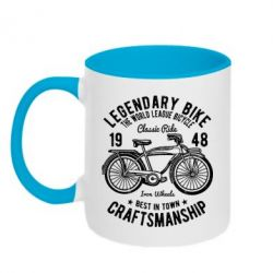 Кружка двоколірна 320ml Classic Bicycle