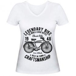 Жіноча футболка з V-подібним вирізом Classic Bicycle