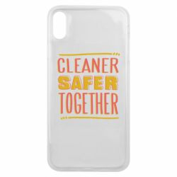 Чехол для iPhone Xs Max Cleaner safer together.