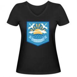 Жіноча футболка з V-подібним вирізом Clear sky