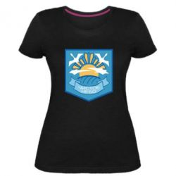 Жіноча стрейчева футболка Clear sky
