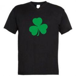 Мужская футболка  с V-образным вырезом Clover