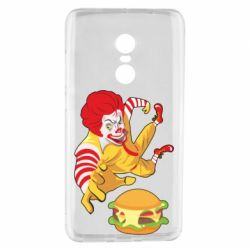 Чехол для Xiaomi Redmi Note 4 Clown in flight with a burger