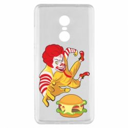 Чехол для Xiaomi Redmi Note 4x Clown in flight with a burger