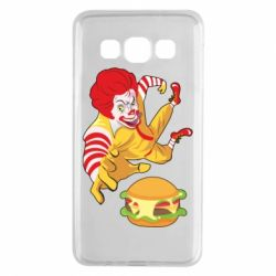 Чехол для Samsung A3 2015 Clown in flight with a burger
