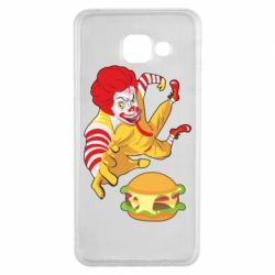 Чехол для Samsung A3 2016 Clown in flight with a burger