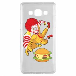 Чехол для Samsung A5 2015 Clown in flight with a burger