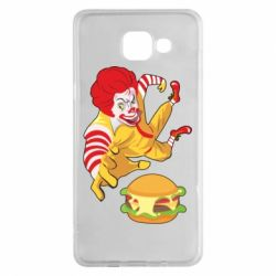 Чехол для Samsung A5 2016 Clown in flight with a burger