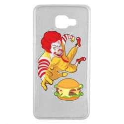 Чехол для Samsung A7 2016 Clown in flight with a burger