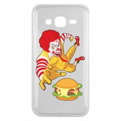 Чехол для Samsung J5 2015 Clown in flight with a burger