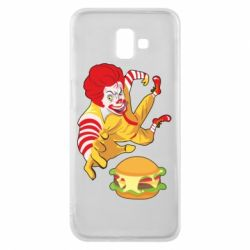 Чехол для Samsung J6 Plus 2018 Clown in flight with a burger