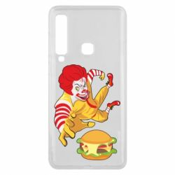 Чехол для Samsung A9 2018 Clown in flight with a burger