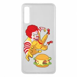 Чехол для Samsung A7 2018 Clown in flight with a burger