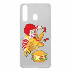 Чехол для Samsung A60 Clown in flight with a burger