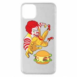 Чехол для iPhone 11 Pro Max Clown in flight with a burger