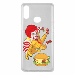 Чехол для Samsung A10s Clown in flight with a burger