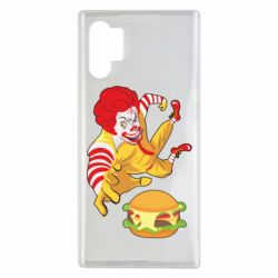 Чехол для Samsung Note 10 Plus Clown in flight with a burger