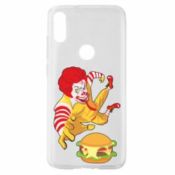Чехол для Xiaomi Mi Play Clown in flight with a burger