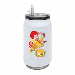 Термобанка 350ml Clown in flight with a burger