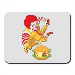 Коврик для мыши Clown in flight with a burger