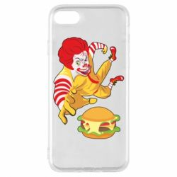 Чехол для iPhone 7 Clown in flight with a burger
