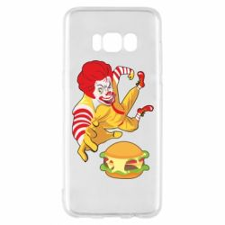 Чехол для Samsung S8 Clown in flight with a burger