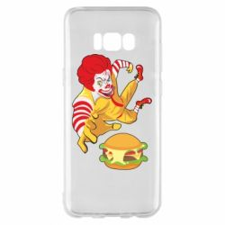 Чехол для Samsung S8+ Clown in flight with a burger
