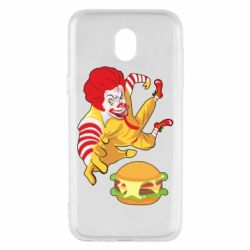 Чехол для Samsung J5 2017 Clown in flight with a burger
