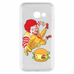 Чехол для Samsung A3 2017 Clown in flight with a burger