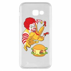 Чехол для Samsung A5 2017 Clown in flight with a burger