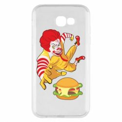 Чехол для Samsung A7 2017 Clown in flight with a burger