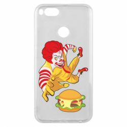 Чехол для Xiaomi Mi A1 Clown in flight with a burger