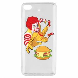 Чехол для Xiaomi Mi 5s Clown in flight with a burger
