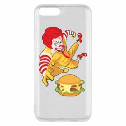 Чехол для Xiaomi Mi6 Clown in flight with a burger