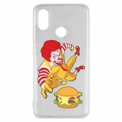 Чехол для Xiaomi Mi8 Clown in flight with a burger