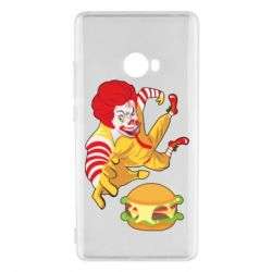 Чехол для Xiaomi Mi Note 2 Clown in flight with a burger