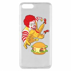 Чехол для Xiaomi Mi Note 3 Clown in flight with a burger