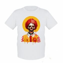 Дитяча футболка Clown McDonald's skeleton
