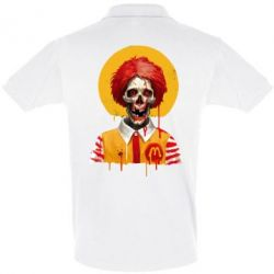Футболка Поло Clown McDonald's skeleton