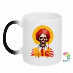 Кружка-хамелеон Clown McDonald's skeleton