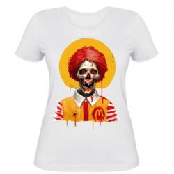 Жіноча футболка Clown McDonald's skeleton